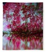 Scarlet Water Fleece Blanket
