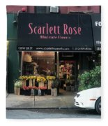 Scarlett  Rose Fleece Blanket