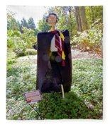 Scarry Potter Scarecrow At Cheekwood Botanical Gardens Fleece Blanket