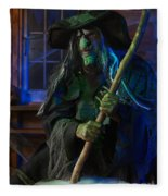 Scary Old Witch Fleece Blanket