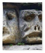 Scary Stone Heads Fleece Blanket