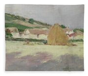 Scene At Giverny, 1890 Fleece Blanket
