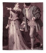 Scene From Much Ado About Nothing By William Shakespeare Fleece Blanket