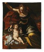 Scene From The Childhood Of Hercules Fleece Blanket