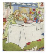 Scene From The Story Of Goldilocks And The Three Bears Fleece Blanket