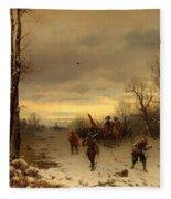 Scene From The Thirty Years War Fleece Blanket