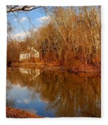 Scene In The Forest - Allaire State Park Fleece Blanket