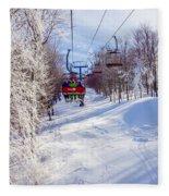 Scenery Around Timberline Ski Resort West Virginia Fleece Blanket