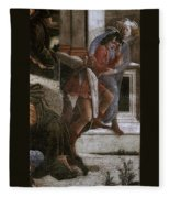 Scenes From The Life Of Moses Detail Alessandro Botticelli Fleece Blanket