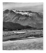 Scenic Alaska Bw Fleece Blanket