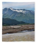 Scenic Alaska Color  Fleece Blanket