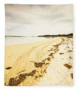 Scenic Coastal Calm Fleece Blanket