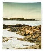 Scenic Coastal Dusk Fleece Blanket