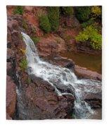 Scenic Gooseberry Falls Fleece Blanket