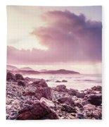 Scenic Seaside Sunrise Fleece Blanket