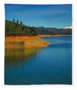 Scenic Shasta Lake Fleece Blanket