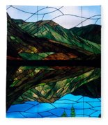 Scenic Stained Glass  Fleece Blanket