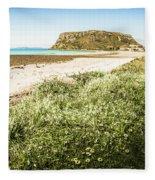 Scenic Stony Seashore Fleece Blanket