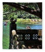 Scenic Tam Coc Boat Tour Fleece Blanket