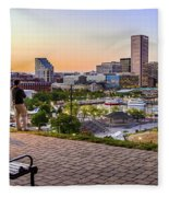 Scenic View From Federal Hill Fleece Blanket