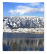 Scenic Wood Lake Fleece Blanket