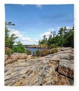 Scenic Wreck Island Fleece Blanket