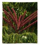 Schefflera Flower Fleece Blanket