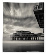 Scheveningen Pier 1 Fleece Blanket