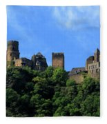 Schoenburg Castle Oberwesel Germany Fleece Blanket