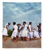 School Trip To Beach II Fleece Blanket