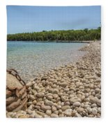 Schoolhouse Beach Washington Island Fleece Blanket