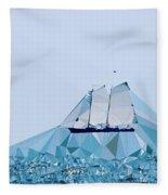 Schooner, Abstracted Fleece Blanket