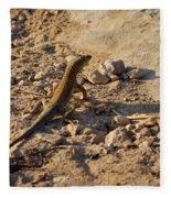Schreiber's Fringe-fingered Lizard Fleece Blanket
