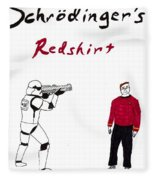 Schrodingers Redshirt Fleece Blanket