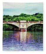 Schuylkill River Fleece Blanket
