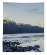 Schuylkill River Sunrise Linfield Pa Fleece Blanket