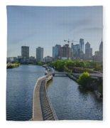 schuylkill River Walk from South Street Bridge Fleece Blanket