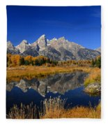 Schwabacher Landing Panorama Fleece Blanket