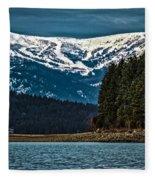 Schweitzer Mountain Resort Fleece Blanket