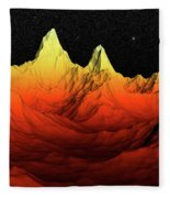 Sci Fi Mountains Landscape Fleece Blanket