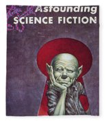 Science Fiction Cover, 1954 Fleece Blanket