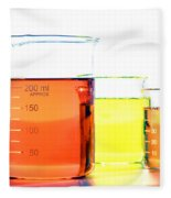 Scientific Beakers In Science Research Lab Fleece Blanket