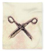 Scissors Fleece Blanket