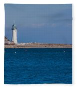 Scituate Lighthouse From Across The Harbor Fleece Blanket