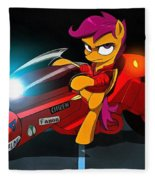 Scootaloo The Protester Fleece Blanket
