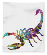 Scorpion-colorful Fleece Blanket