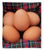 Scotch Eggs Fleece Blanket