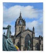 Scotland Skies Fleece Blanket