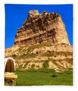 Scots Bluff National Monument Fleece Blanket