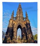 Scott Monument, Edinburgh, Scotland Fleece Blanket